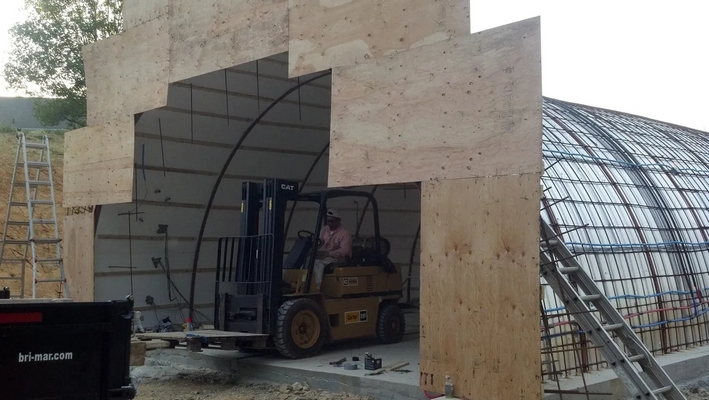 Wine cave construction-plywood mold