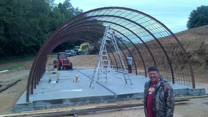 Wine Cape construction-rebar installation