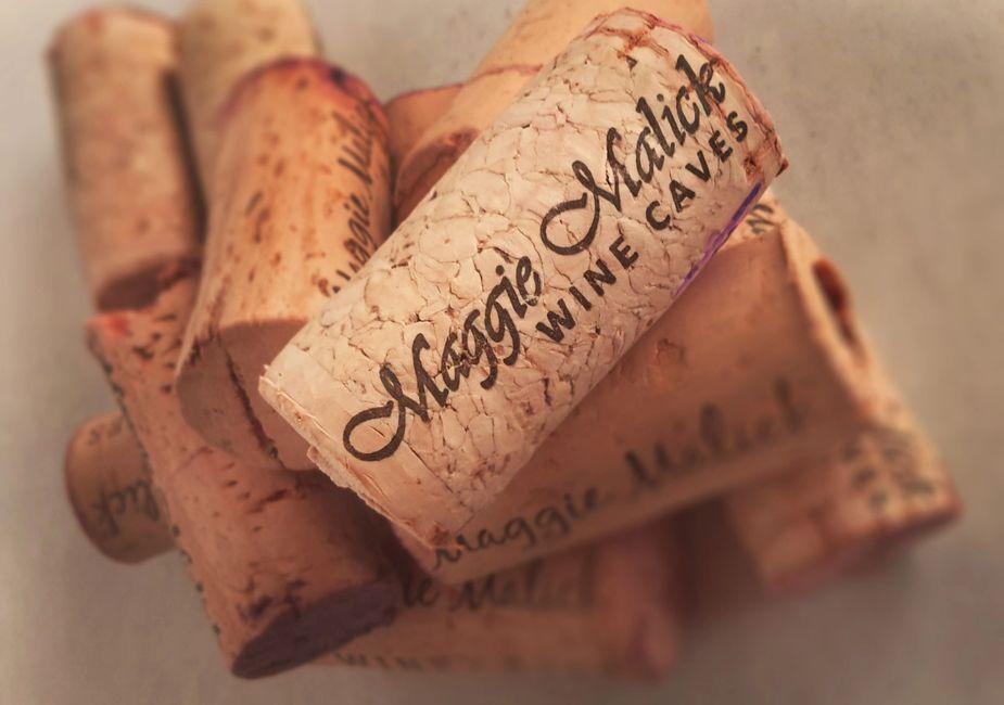 Artistic shot of Maggie Malick corks