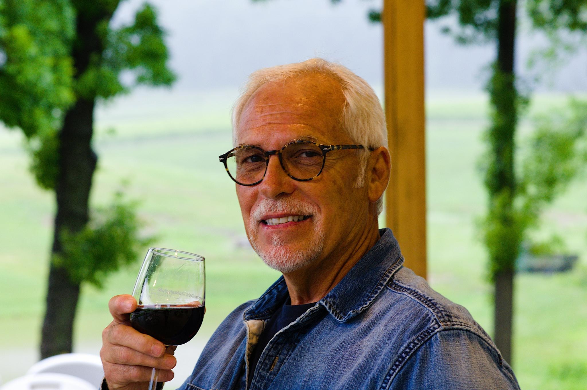 Gentleman tasting wine