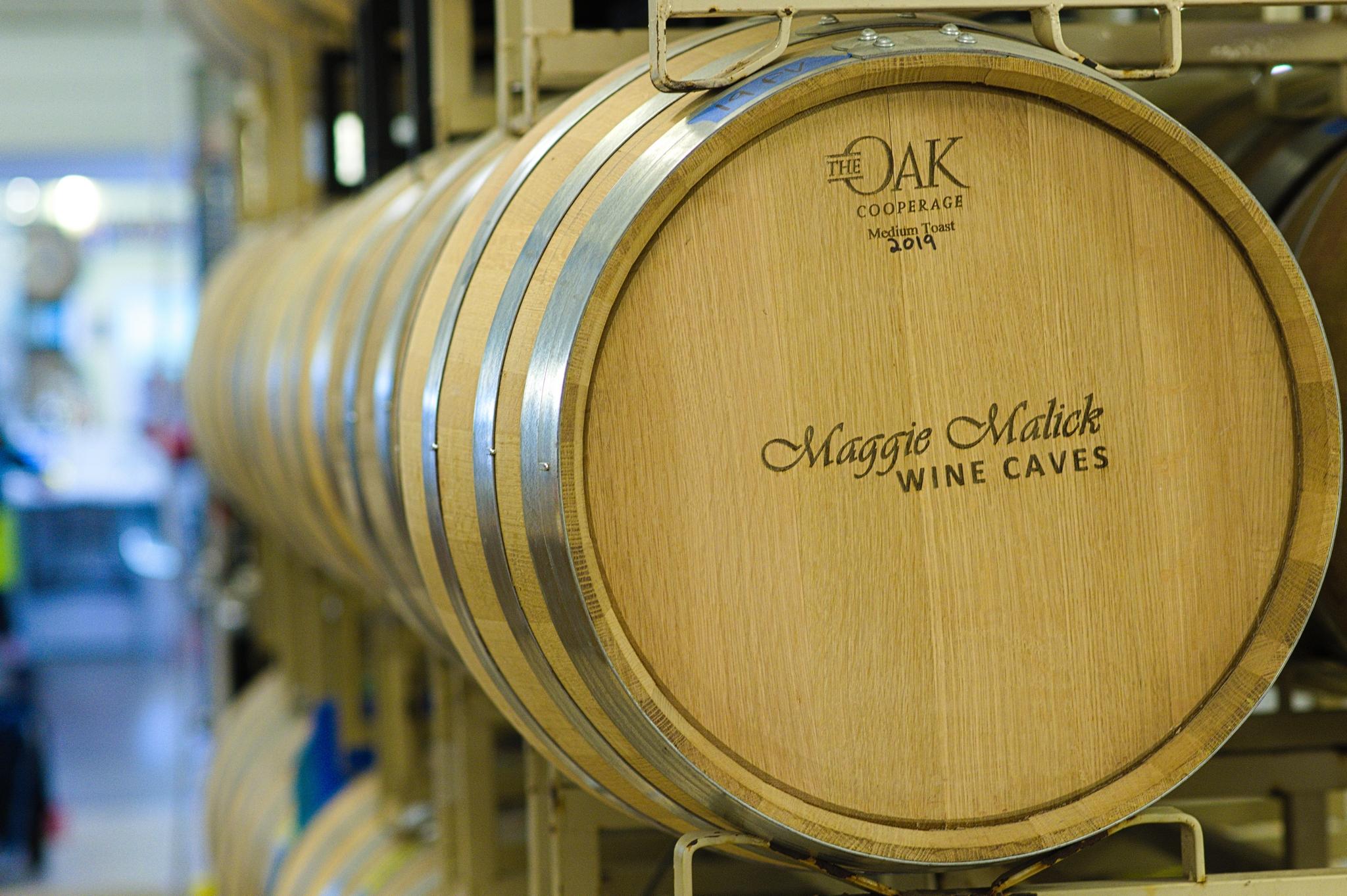 Barrels at Wine-Pickup-Party
